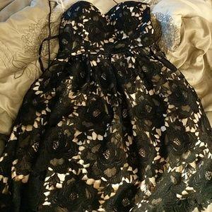 Black modcloth dress